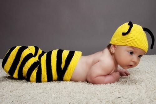 kleine wespe baby karneval kostüm häkeln