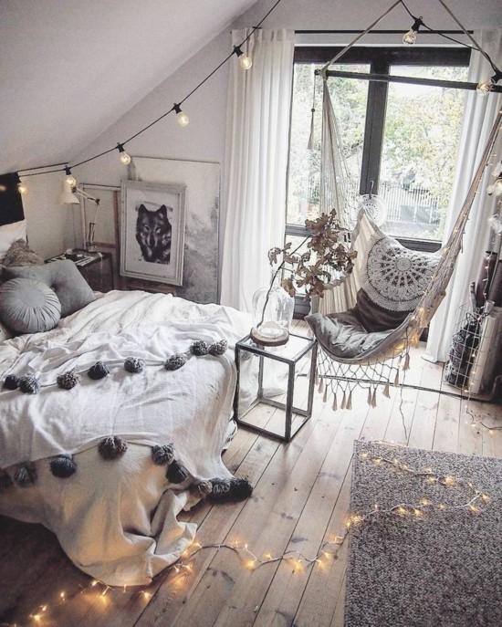 kleines wohnzimmer im boho style
