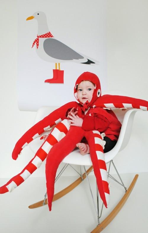 krake diy baby karneval kostüm