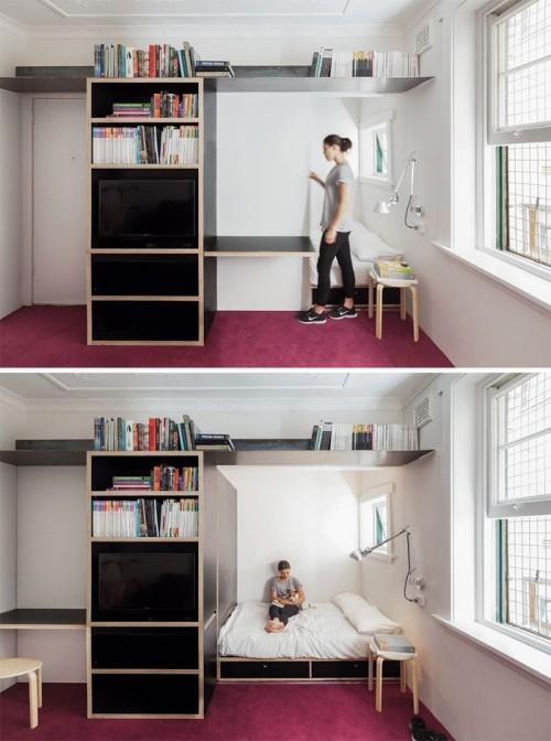 lila bodeneinrichtung einzimmerwohnung