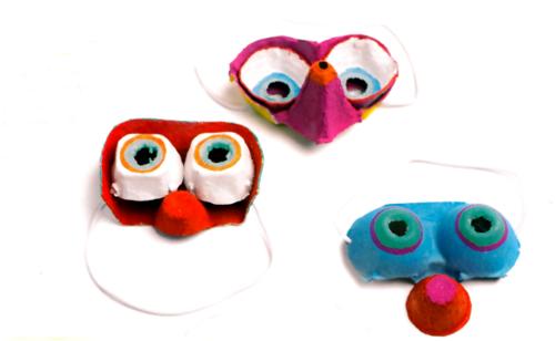masken basteln mit kindern fasching ideen
