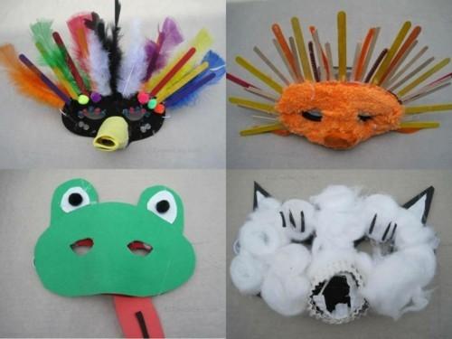 masken basteln mit kindern zum karneval