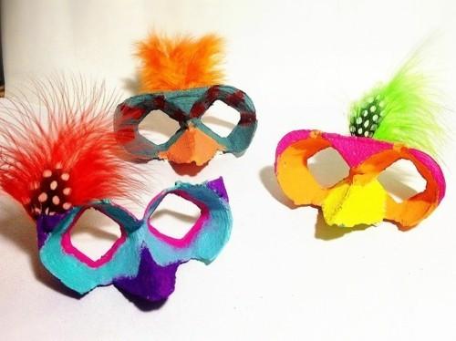masken mit eierkarton basteln mit kindern