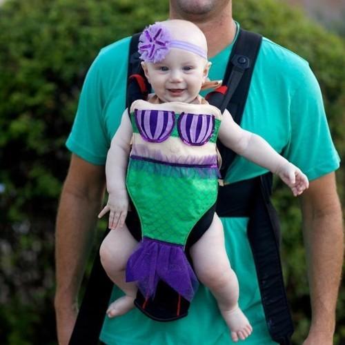 meerjungfrau baby karneval kostüm idee