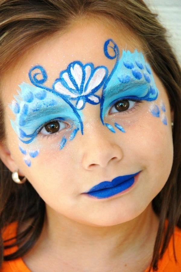 meerjungfrau schminken facepainting ideen für mädchen