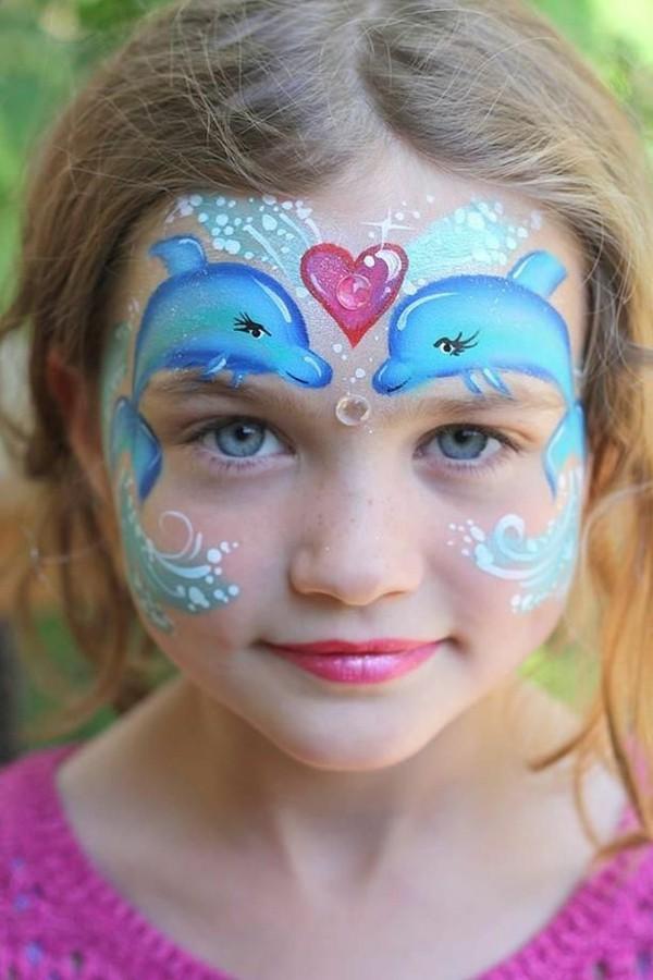 meerjungfrau schminken facepainting karneval