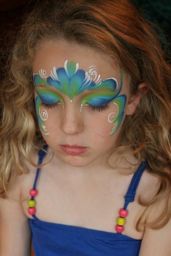 meerjungfrau schminken facepainting kinder