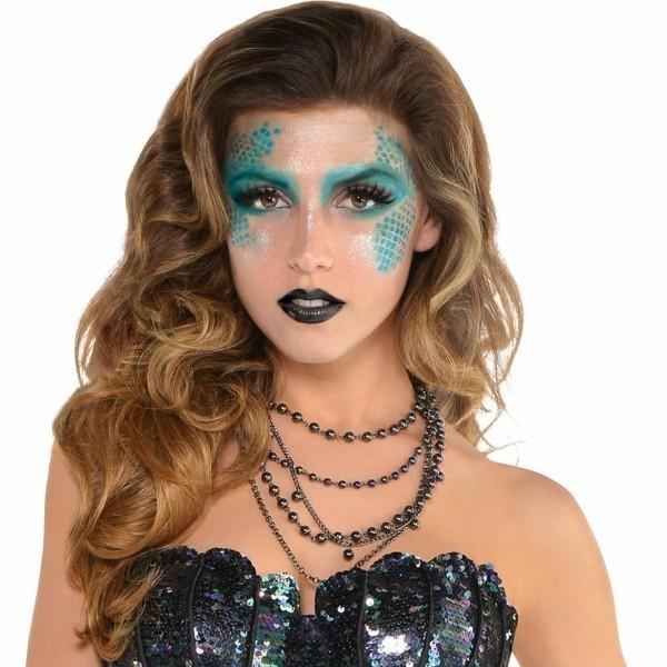 meerjungfrau schminken karneval ideen