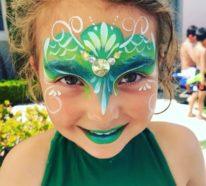 Meerjungfrau schminken – 70 Make-up Ideen für kleine und große Nixen