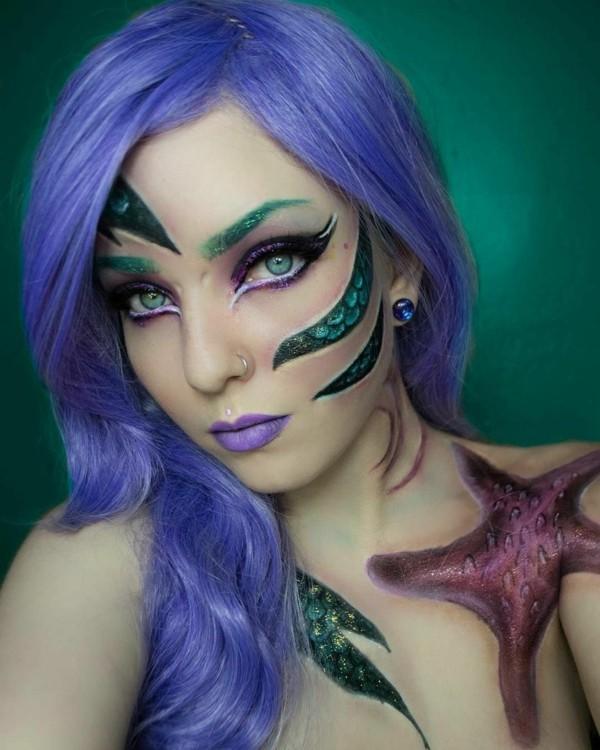 meerjungfrau schminken kunstvolle ideen zum karneval