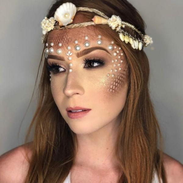 meerjungfrau schminken perlen