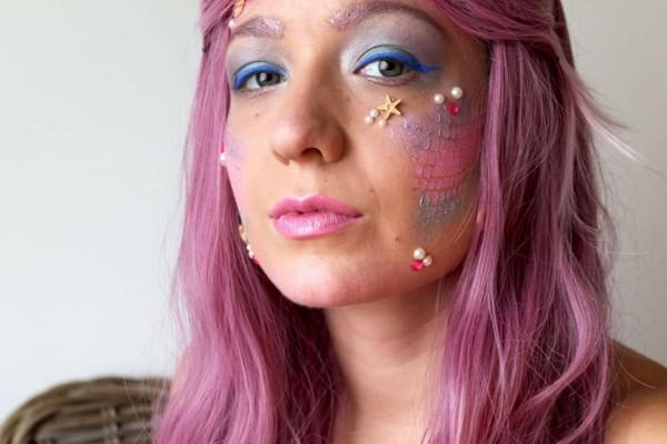 meerjungfrau schminken pinke farbe