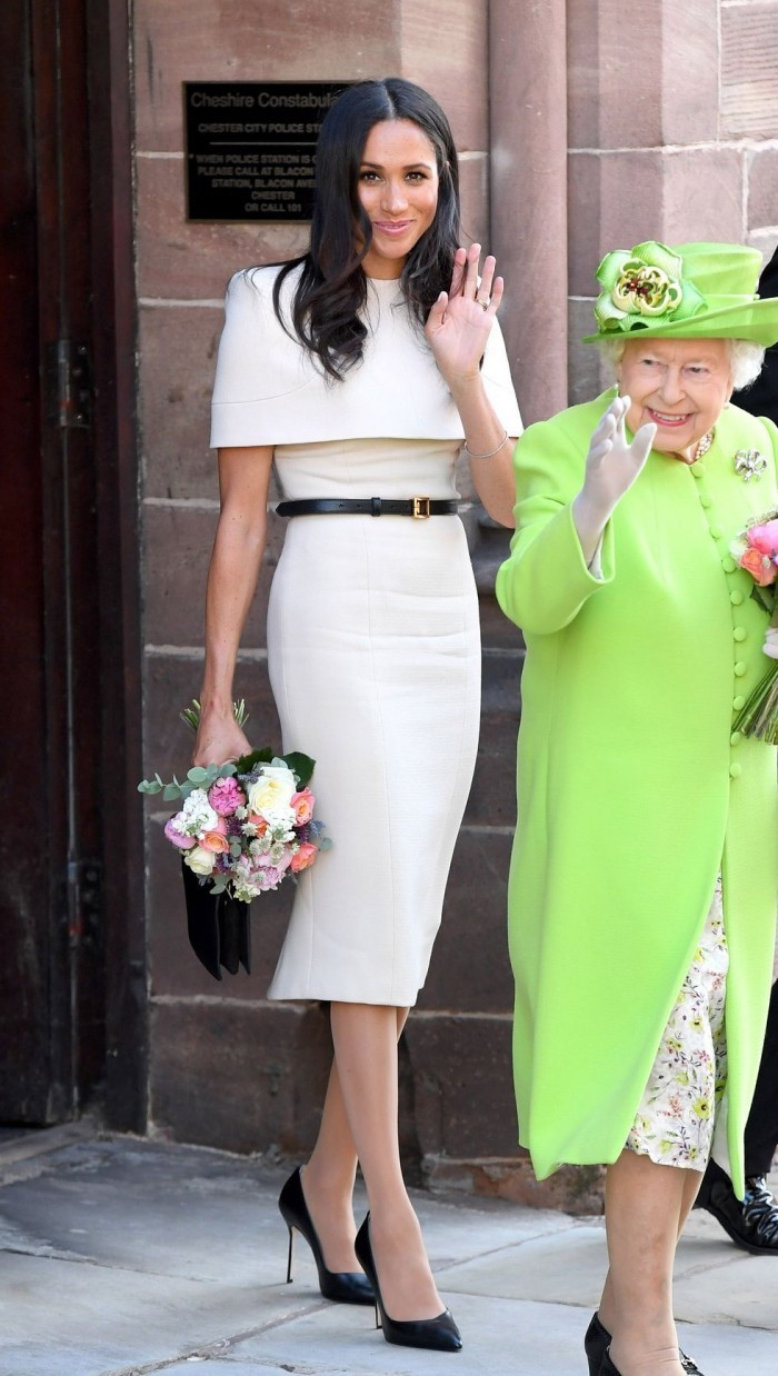meghan markle weiß queen