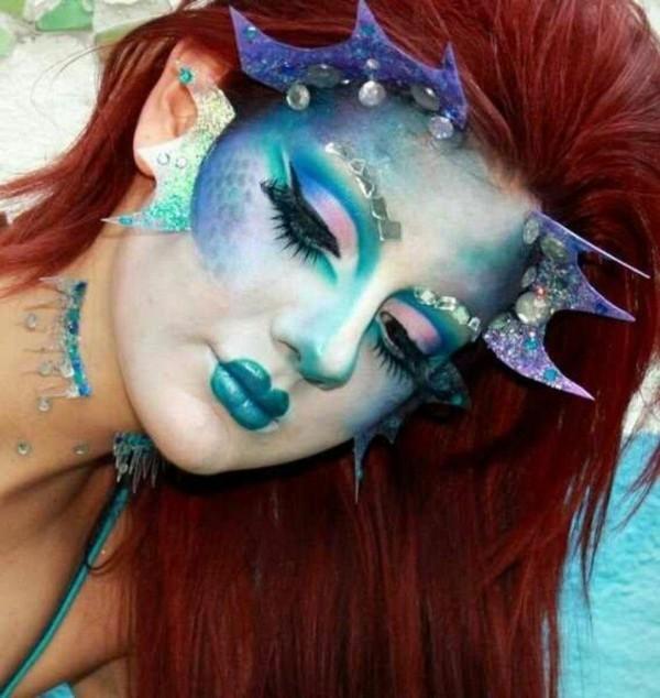 originelle 3d meerjungfrau schminken
