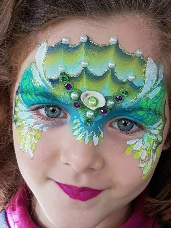 originelle facepainting ideen meerjungfrau schminken