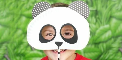 panda maske basteln mit kindern