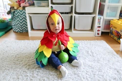 papagei baby karneval kostüm idee