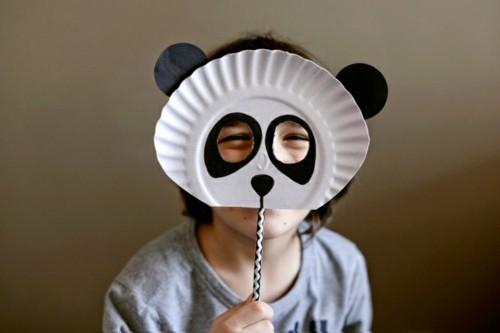 papier maske basteln mit kindern zu fasching