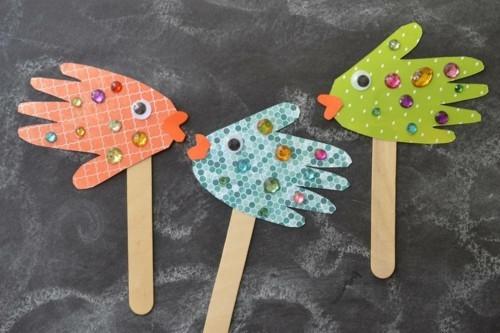 party fische basteln mit kindern