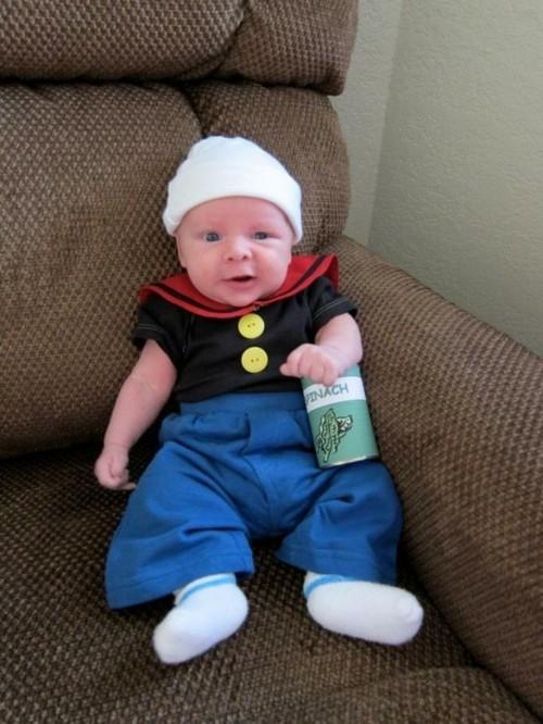 popay baby karneval kostüm idee