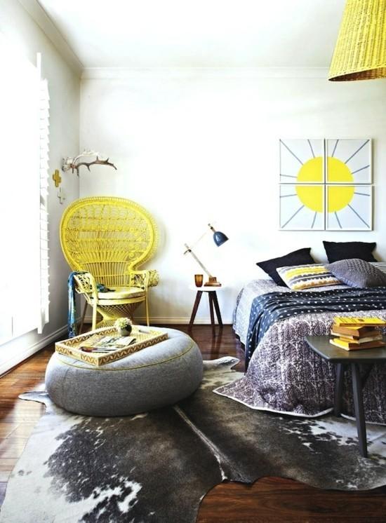 schlafzimmer einrchigen im boho style