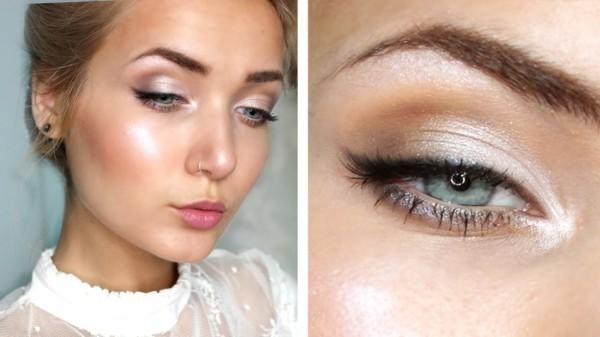 schlupflider richtig schminken hochzeit make up tipps