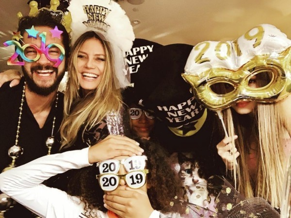 silvester party heidi klum tom kaulitz