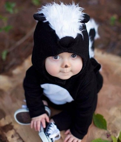 skunk baby karneval kostüm idee
