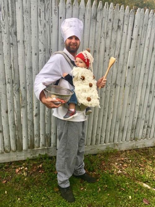 spaghetti baby karneval kostüm idee