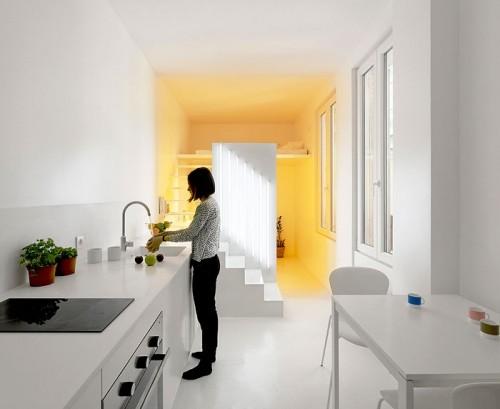 strahlendes weiß einzimmerwohnung einrichten