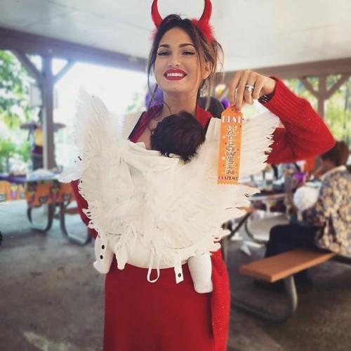 teufel engel mutter baby karneval kostüm