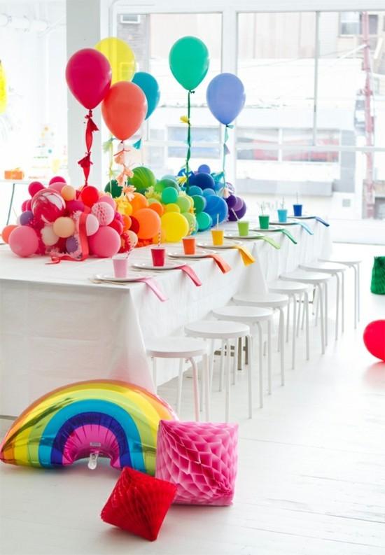 tischdeko fasching ideen mit ballons