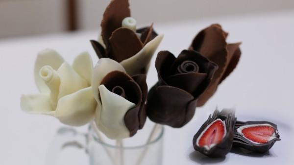 tolle schockoladenrosen valentinstag ideen