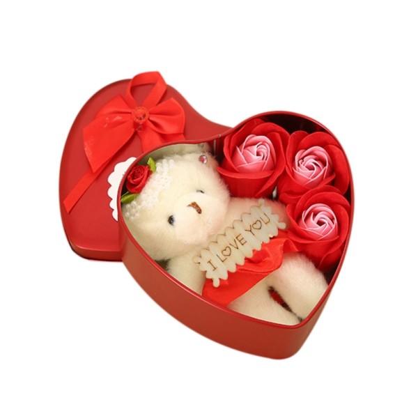 valentinstag ideen bär und tolle rosen