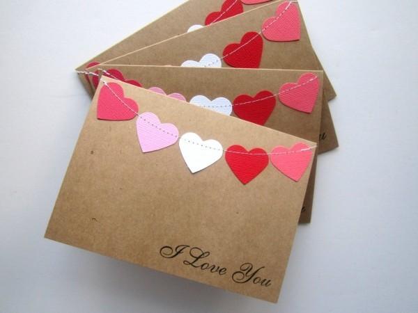 valentinstag ideen vintage briefe