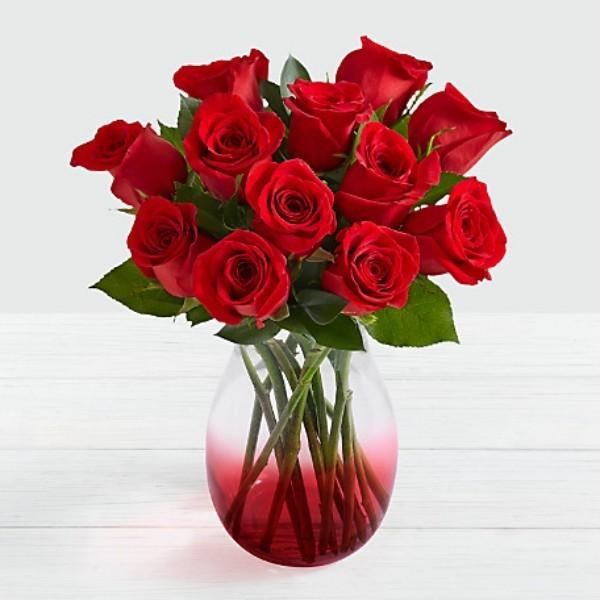vase rote rosen valentinstag ideen