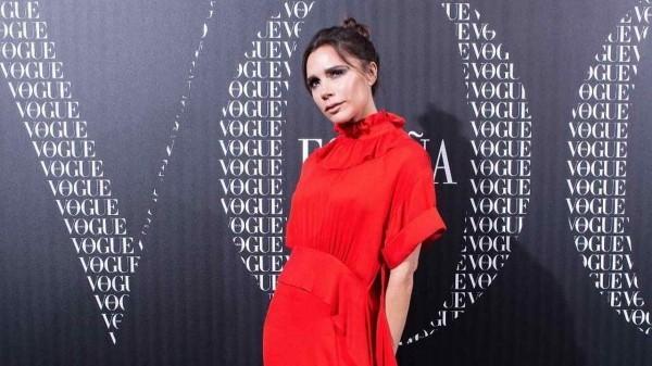 victoria beckham tolles kleid
