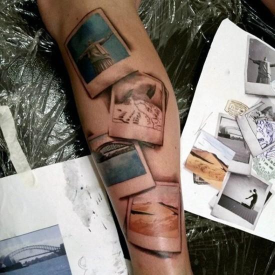 wanderlust tattoo ideen 3d fotos