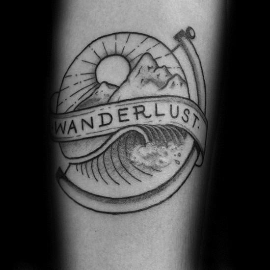 wanderlust tattoo ideen globus