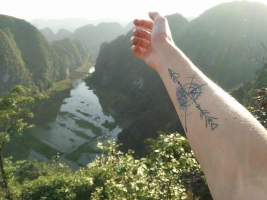 wanderlust tattoo ideen kompass