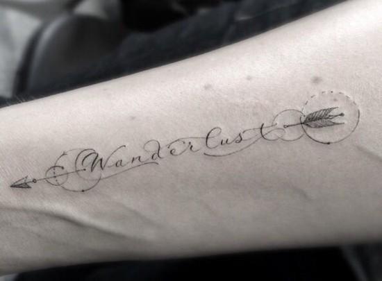 wanderlust tattoo ideen unterarm tätowierung