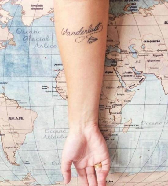 wanderlust tattoo ideen unterarm