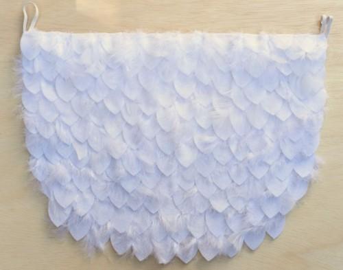 weiße eule baby karneval kostüm diy idee