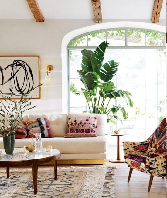 wunderschönes wohnzimmer im boho style