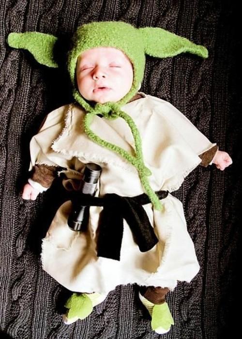 yoda star wars baby karneval kostüm
