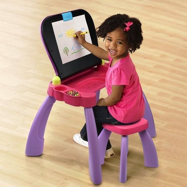 8 originelle Hi-Tech Geschenke für Kinder ab 3 Jahren vtech touch and learn 3 in 1 schreibtisch