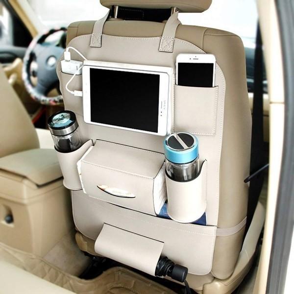 Die besten Auto Gadgets 2019, die für mehr Sicherheit und Komfortunterwegs sorgen palmoo rücksitz organizer
