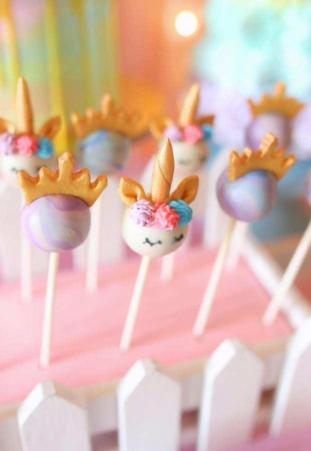 Einhorn bastelideen lecker süßigkeiten
