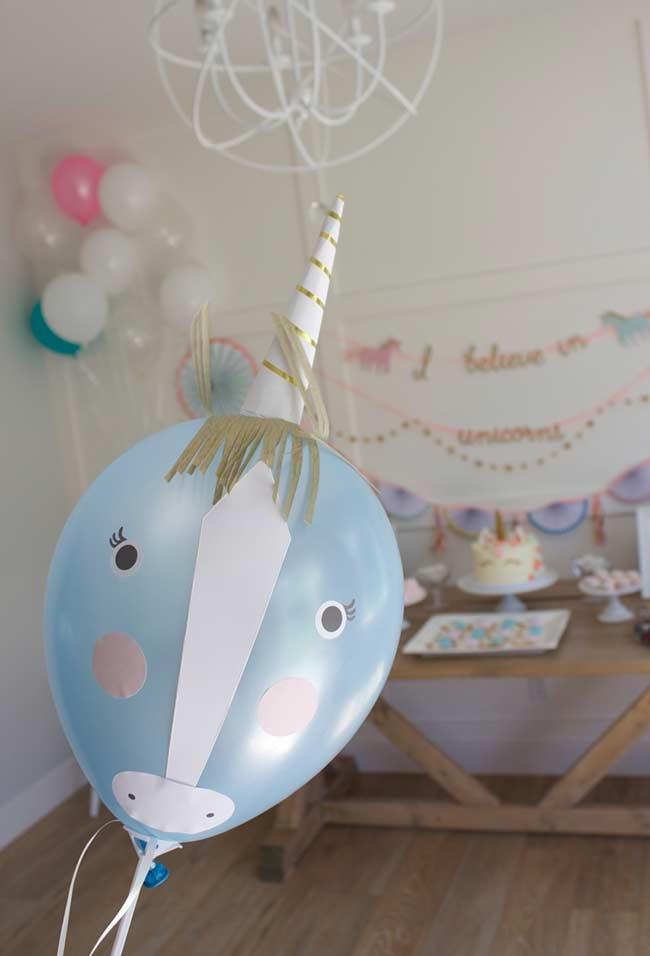 Einhorn bastelideen mit einem tollen Ballon