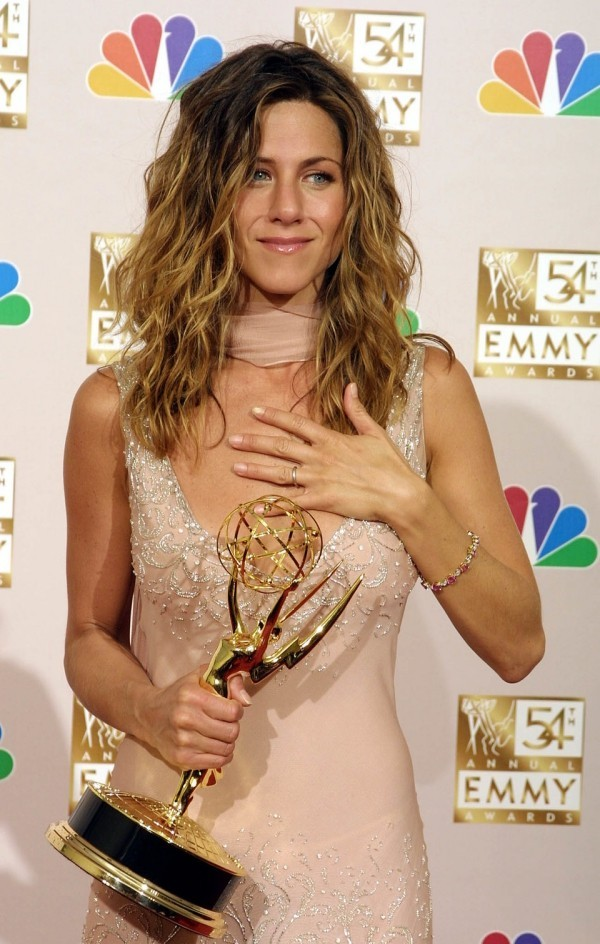 Jennifer Aniston in Ombre-Look 2002 Emmy Award